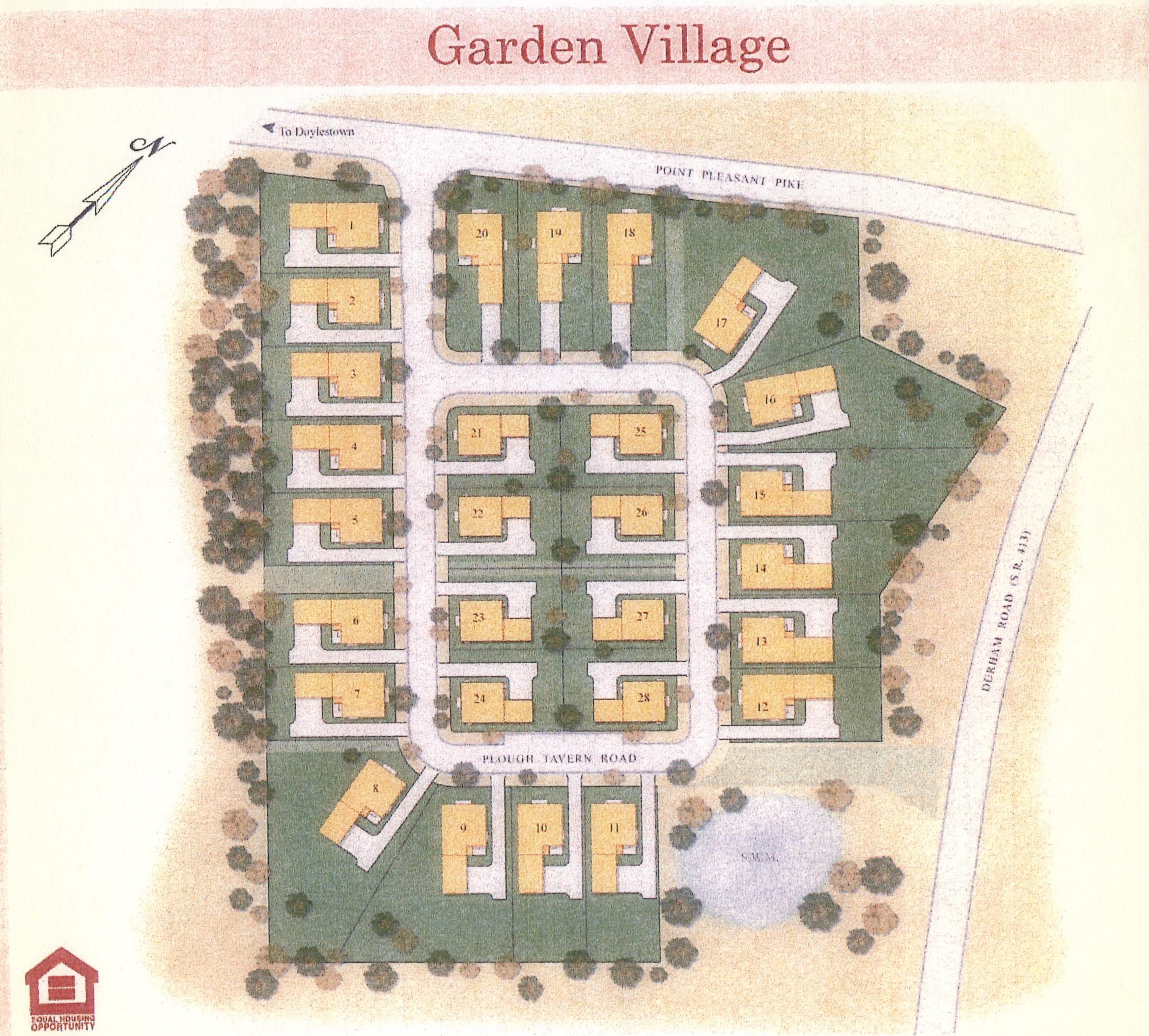 munity map garden village hoa